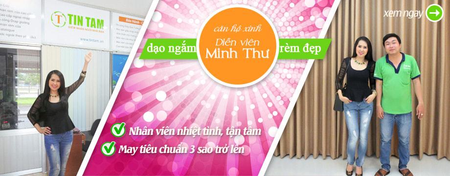 Rèm cửa đẹp căn hộ xinh diễn viên Minh Thư